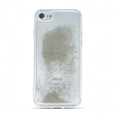 Husa SAMSUNG Galaxy A20e - Sclipici Lichid (Perle - Argintiu)