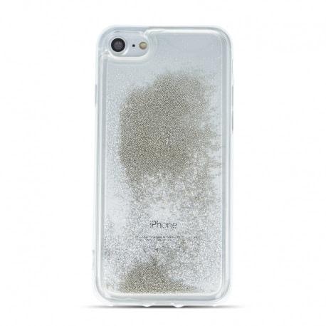 Husa SAMSUNG Galaxy A41 - Sclipici Lichid (Perle - Argintiu)