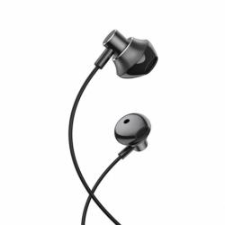 Casti Stereo cu Microfon - mufa Jack 3.5mm (Negru) HOCO M75