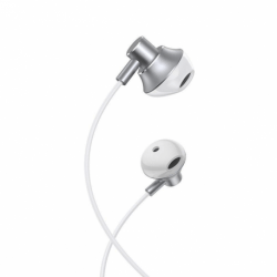Casti Stereo cu Microfon - mufa Jack 3.5mm (Argintiu) HOCO M75