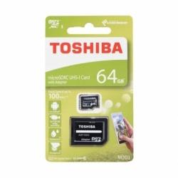 Card MicroSD 64GB + Adaptor (Clasa 10) M203 Toshiba
