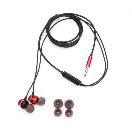 Casti Stereo cu Microfon - mufa Jack 3.5mm (Rosu) HOCO M51