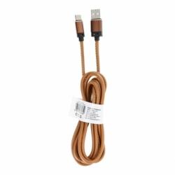 Cablu Date & Incarcare Piele Tip C 3.0 (Maro) C183 2m