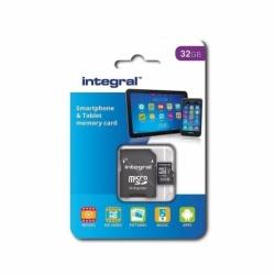 Card MicroSD 32GB + Adaptor (Clasa 10) Integral