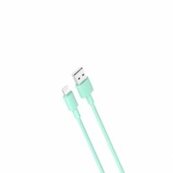 Cablu Date & Incarcare APPLE Lightning 2.4A (Verde) 1m XO NB156