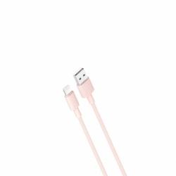Cablu Date & Incarcare APPLE Lightning 2.4A (Roz) 1m XO NB156