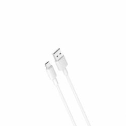 Cablu Date & Incarcare MicroUSB (Alb) 1m XO NB156