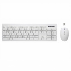 Tastatura + Mouse Wireless (Alb) Rebeltec Whiterun