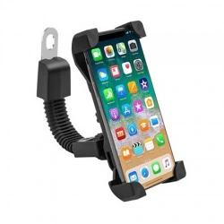 Suport Ajustabil Telefon Bicicleta Universal (Negru)