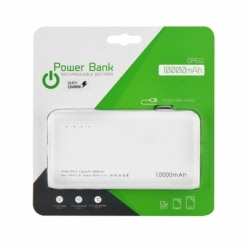 Baterie Externa Quick Charge 10000 mAh (Alb)