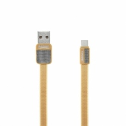 Cablu Date & Incarcare MicroUSB (Auriu) REMAX METAL RC-004M
