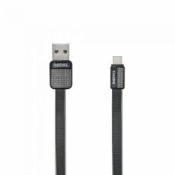 Cablu Date & Incarcare Tip C (Negru) REMAX METAL RC-044A