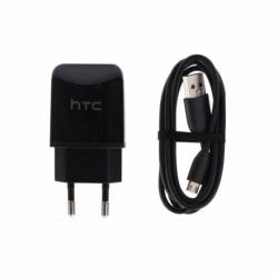 Incarcator Original HTC + Cablu MicroUSB (Negru)