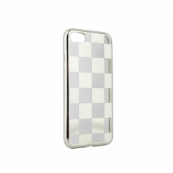 Husa APPLE iPhone 7 / 8 - Electroplate Chess (Argintiu)