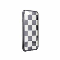 Husa APPLE iPhone 7 / 8 - Electroplate Chess (Negru)
