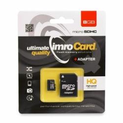 Card MicroSD 8 GB + Adaptor Clasa 4 IMRO