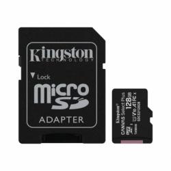 Card MicroSD 128GB + Adaptor Clasa 10 Kingston