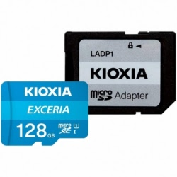 Card MicroSD 128 GB + Adaptor Clasa 10 Kioxia