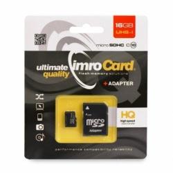 Card MicroSD 16GB + Adaptor Clasa 10 IMRO