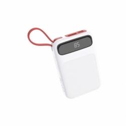 Baterie Externa 10000 mAh + Cablu MicroUSB (Alb) J40 HOCO