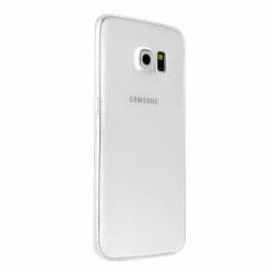 Set SAMSUNG Galaxy S6 Edge - Husa Ultra Slim (Transparent) + Folie Siliconata Full Cover (Transparenta) Pet BOX