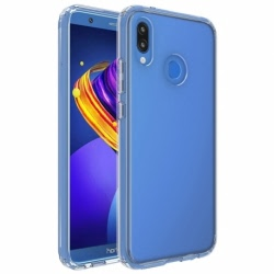 Set HUAWEI P20 Lite - Husa Ultra Slim (Transparent) + Folie de Sticla 3D Blue Star