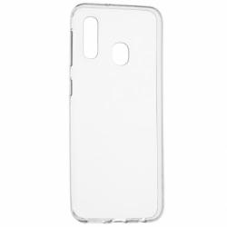 Set SAMSUNG Galaxy A20e - Husa Ultra Slim 0.5mm (Transparent) + Folie de Sticla 5D Full Glue (Negru)