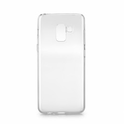 Set SAMSUNG Galaxy A5 2018 \ A8 2018 - Husa Ultra Slim (Transparent) + Folie de Sticla 9D Full Glue (Negru) TSS