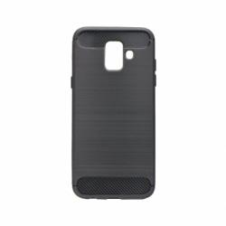 Set SAMSUNG Galaxy J6 2018 - Husa Carbon (Negru) Forcell + Folie de Sticla 9D Full Glue (Negru) Smart Glass