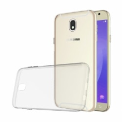 Set SAMSUNG Galaxy J7 2017 - Husa Ultra Slim (Transparent) + Folie de Sticla 9D Full Glue (Negru) Smart Glass