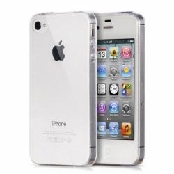 Set APPLE iPhone 4\4S - Husa Ultra Slim (Transparent) + Folie de Sticla Smart Glass