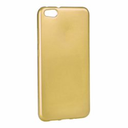 Set APPLE iPhone 7 \ 8 - Husa Jelly Mat (Auriu) + Folie de Sticla Smart Glass