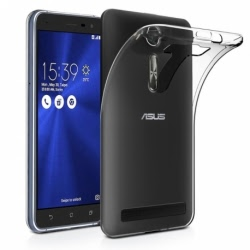 Set ASUS ZenFone 3 Laser ZC551KL - Husa Ultra Slim (Transparent) + Folie de Sticla Smart Glass