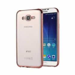 Set SAMSUNG Galaxy J5 (2015) - Husa Electro (Roz-Auriu) + Folie de Sticla Flexibila Raccon
