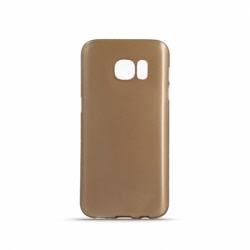 Set SAMSUNG Galaxy S6 Edge - Husa Ultra Chrome (Auriu) + Folie Siliconata Full Cover (Transparent) Pet BOX
