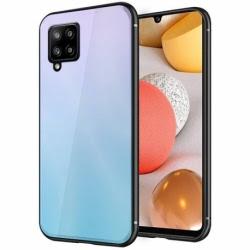 Husa SAMSUNG Galaxy A12 - Ombre Glass (Albastr/Roz)