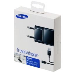 Incarcator Original SAMSUNG 2A + Cablu MicroUSB (Negru) Blister (ETAU90EBE + DU4BBE)