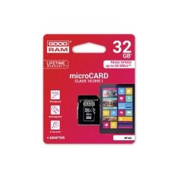 Card MicroSD 32GB + Adaptor Clasa 10 GoodRam
