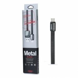 Cablu Date & Incarcare Lightning - 1 Metru (Negru) REMAX RC-044i