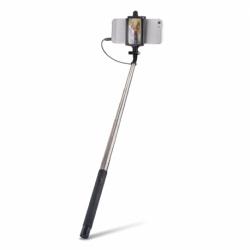 Selfie Stick Universal cu Cablu + Oglinda (Negru) MP-410 Forever
