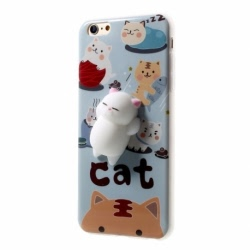 Husa APPLE iPhone 5\5S\SE - 4D Squishy (Cats in Heaven)