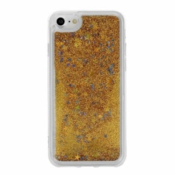 Husa SAMSUNG Galaxy J3 2016 - Glitter Lichid (Auriu)