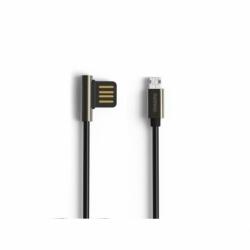 Cablu Date & Incarcare MicroUSB - 90 Grade (Negru) REMAX Emperor
