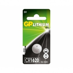 Baterie GP Lithium 3V CR1620-7C5 (Ø 16 x 2mm)