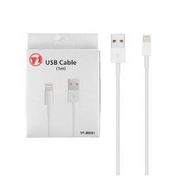 Cablu Date APPLE iPhone 5\6\7 (Alb) YF-MX01
