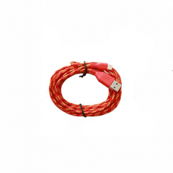 Cablu Date Rotund Textil APPLE iPhone 5\6\7 (Rosu)
