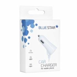 Incarcator Auto 3A cu Mufa Lightning + Port USB (Alb) Blue Star