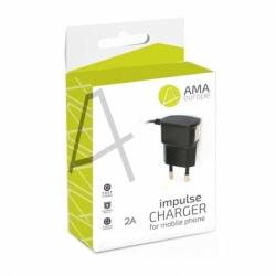Incarcator 2A cu Mufa MicroUSB (Negru) AMA