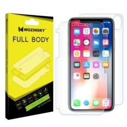 Folie Siliconata Full Cover APPLE iPhone X / XS Fata + Spate (Self-Repair) Wozinsky