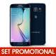 Set Promotional - Folie Full Cover + Husa Silicon (Aurie) pentru SAMSUNG Galaxy S6 Edge